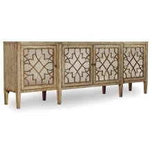 Living Room Sanctuary Four-Door Mirrored Console - Surf-Visage
