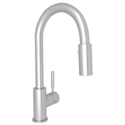 Lux Side Lever Bar/Food Prep Stainless Steel Pull-Down Faucet