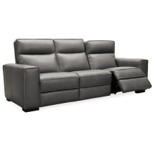 Living Room Braeburn Leather Sofa w/PWR Recline PWR Headrest