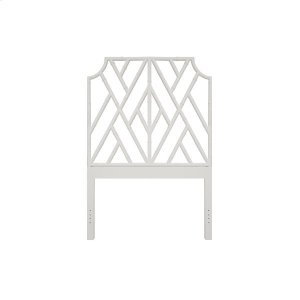 Worlds AwayChippendale Style Twin Bamboo Headboard In Matte White Lacquer