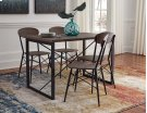 Samcott - Brown/Bronze Finish 5 Piece Dining Room Set Product Image