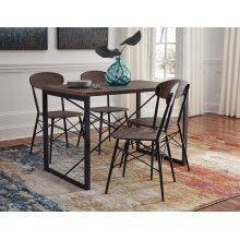 Samcott - Brown/Bronze Finish 5 Piece Dining Room Set