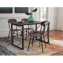 Samcott - Brown/Bronze Finish 5 Piece Dining Room Set