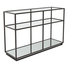 Kure Console Table Distressed Black