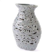 Leaves Md Vase Gray