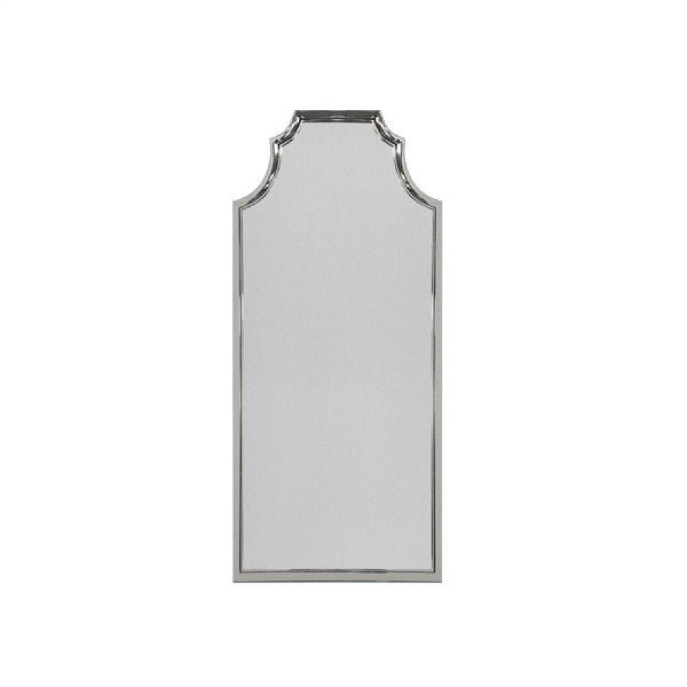 Pagoda Style Floor Mirror With Nickel Frame