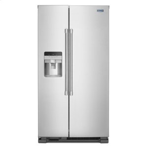 36-Inch Wide Side-by-Side Refrigerator with Exterior Ice and Water Dispenser - 25 Cu. Ft. - FINGERPRINT RESISTANT STAINLESS STEEL