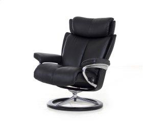 Stressless Magic Small Signature Base Chair and Ottoman