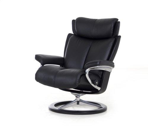 Stressless Magic Medium Signature Base Chair and Ottoman