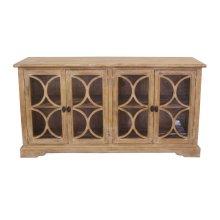 "San Rafael Glass Cabinet 67"" Antique Oak"
