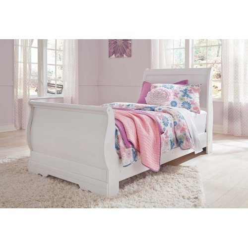 Anarasia - White 3 Piece Bed Set (Twin)