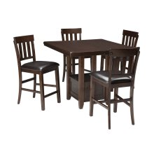 Haddigan - Dark Brown 5 Piece Dining Room Set