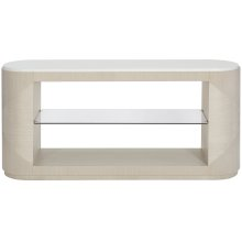 Axiom Console Table in Linear Gray (381)