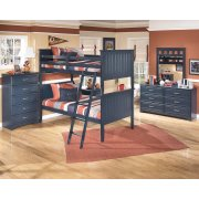 Leo - Blue 2 Piece Bedroom Set Product Image