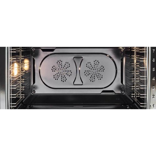 48 inch All-Gas Range 6 Brass Burner and Griddle Nero