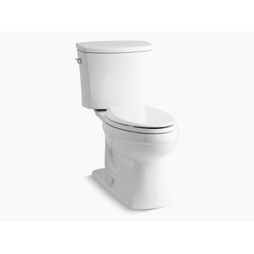 Black Black Comfort Height Two-piece Elongated 1.6 Gpf Toilet With Aquapiston Flushing Technology and Left-hand Trip Lever, Seat Not Included