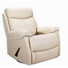 REC-220 Brazil Beige Leather Recliner