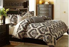 9 pc Queen Comforter Set Sand