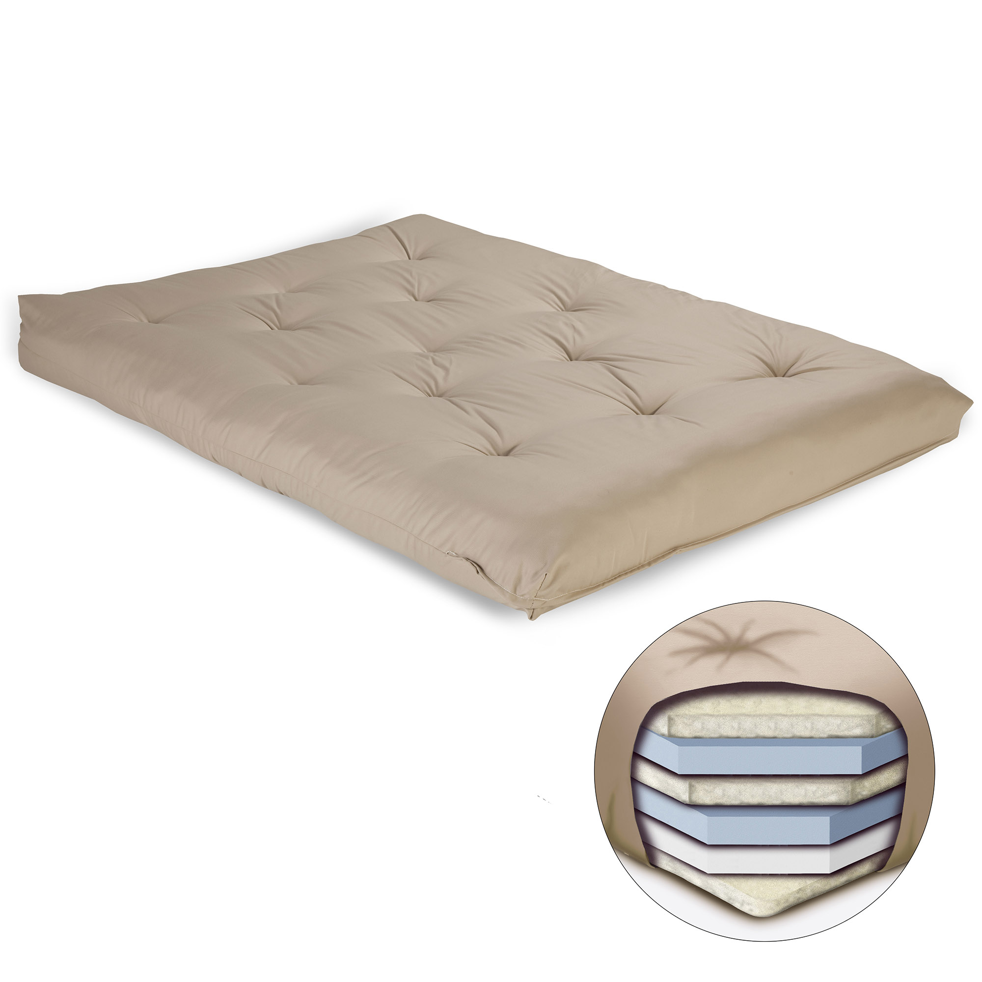 8 inch futon mattress with multi layer cotton and foam core khaki 600813 in by fashion bed group in lafayette in   8 inch futon      rh   lehnens