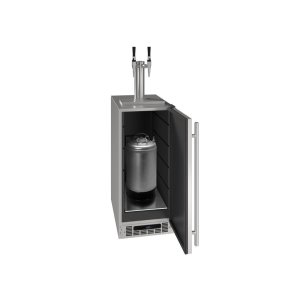 "U-Line15"" 2 Tap Nitro Coffee Dispenser With Stainless Solid Finish (115 V/60 Hz Volts /60 Hz Hz)"