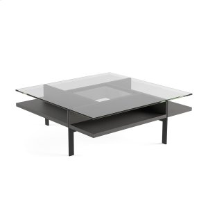 Bdi FurnitureSquare Coffee Table in Charcoal Stained Ash