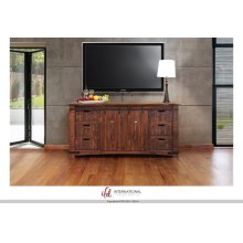 "70"" TV Stand w/6 Drawer, 2 door w/2 shelves on each side"