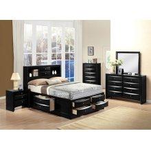 IRELAND BLACK QUEEN BED