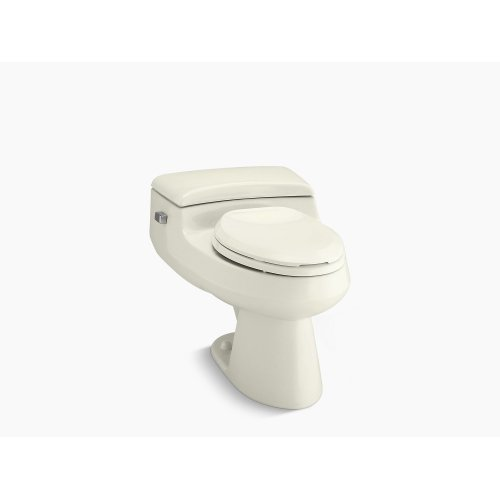 Biscuit Comfort Height One-piece Elongated 1.0 Gpf Toilet With Pressure Lite Flushing Technology and Left-hand Trip Lever
