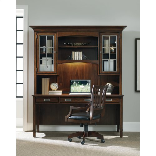 Home Office Latitude Computer Credenza Desk Hutch