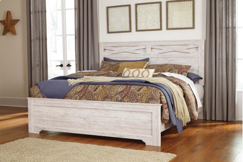 Briartown - Whitewash 3 Piece Bed Set (King)