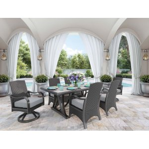 Ashley Furniture Marsh Creek - Brown 4 Piece Patio Set