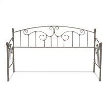 Hinsdale Metal Daybed with Sloping Rails and Vertical Spindles, Antique Pewter Finish, Twin