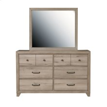 Kids Framed Dresser Mirror in River Birch Brown