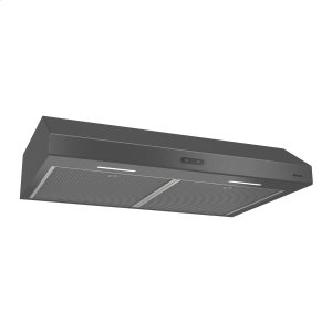 BroanBroan® 30-Inch Convertible Under-Cabinet Range Hood, 300 CFM, Black Stainless Steel