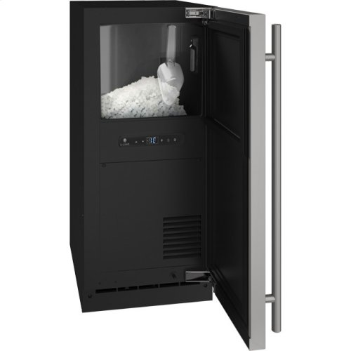 "3 Class 15"" Nugget Ice Machine With Stainless Solid Finish and Field Reversible Door Swing (115 Volts / 60 Hz)"