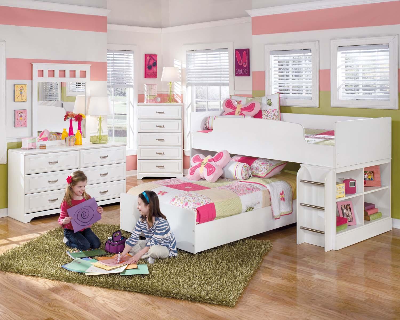 Hidden · Additional Lulu   White 2 Piece Bedroom Set