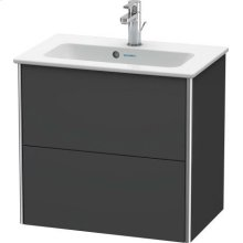 Vanity Unit Wall-mounted Compact, Graphite Matt (decor)
