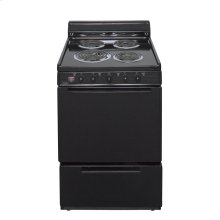24 in. Freestanding Electric Range in Black