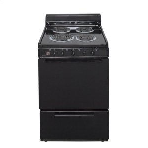 Premier24 in. Freestanding Electric Range in Black