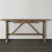 Western Brown Compass Console Table Product Image