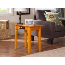 Shaker Chair Side Table with Charger Caramel Latte