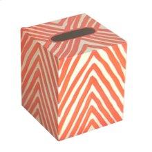 Kleenex Box Orange and Cream ZEBRA.