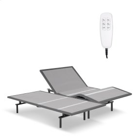 ProMotion 2.0 Low-Profile Adjustable Bed Base with Simultaneous Movement and MicroHook Technology, Charcoal Gray Finish, Split California King