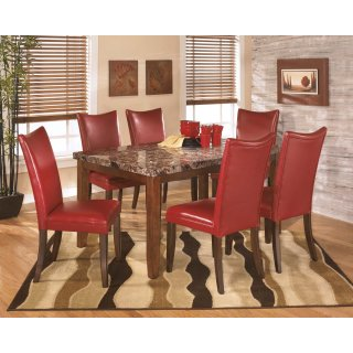Lacey Red 7 Piece Dining Room Set