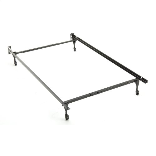 Sentry 79C Adjustable Bed Frame with Headboard Brackets and (4) Caster Legs, Twin / Full