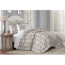 7pc Queen Duvet Set Natural