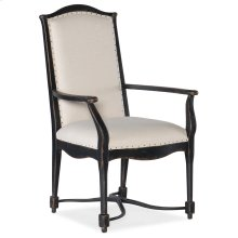 Dining Room Ciao Bella Upholstered Back Arm Chair- Black