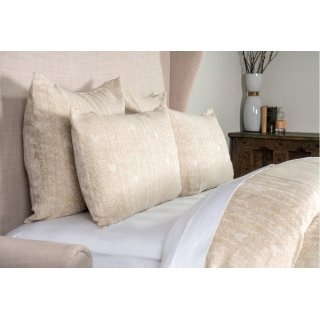 French Herringbone Natural 5pc Queen Set