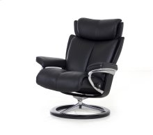 Stressless Magic Medium Signature Base Chair and Ottoman