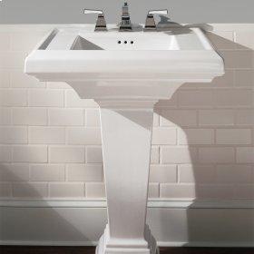 Town Square 27-inch Pedestal Sink - White